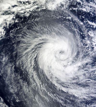 台風の雲の様子