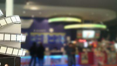 映画館のチケット売り場の様子