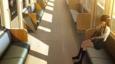 電車に乗るあきら