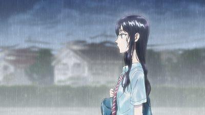 雨に濡れるあきら