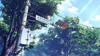 風見沢高校前交差点の様子