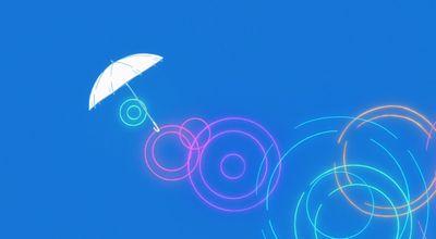 オープニング映像傘が飛んでいく場面