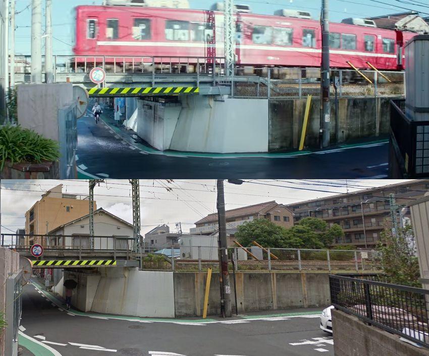 京急杉田駅近くであきらが駆け抜ける場所